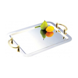 Oblong tray w/handles